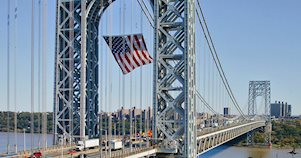 Imagen del Puente George Washington, en Nueva York, que es parte del tour por Queens, Brooklyn y Bronx.