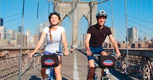 Tour de bicicleta pela Brooklyn Bridge