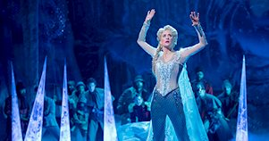 Cartel del musical Frozen en Broadway